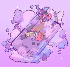 Pokemon Memes, Pokemon Fan Art, Pokemon Cards, Nintendo Pokemon, Cute Pokemon Wallpaper, Cute Cartoon Wallpapers, Kawaii Art, Kawaii Anime, Pokemon Red Blue