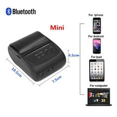 US/EU Portable Mini 58mm Bluetooth Wireless Thermal Receipt Printer For Android Mobile – Shop Now! – WorldOfTablet.com