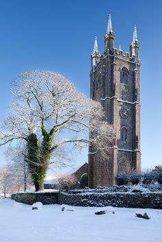 The beautiful church at Widecombe in the Moor, Dartmoor, Devon, England Devon Uk, Devon And Cornwall, Devon England, Dartmoor National Park, Church Of England, Cathedral Church, Cumbria, British Isles, Great Britain