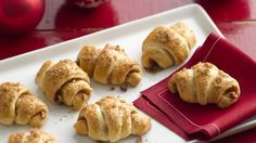 Mini crescents filled with pecans, brown sugar and cinnamon are the perfect bite-sized treat.
