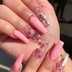 Cute Acrylic Nails 861876447425114436 - Nail Art Design 21 Stylish Fun Design – Inspired Beauty 21 fun stylish nail art design to inspire your next mani, current and evergreen design that you will want to try this year Source by Nail Art Designs, Butterfly Nail Designs, Butterfly Nail Art, Pink Butterfly, Flower Design Nails, Clear Nail Designs, Cool Designs, Colorful Nail Designs, Clear Acrylic Nails
