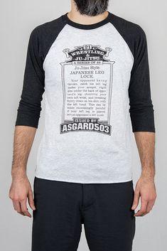 Mens Baseball T-Shirt Mens Tee Run BJJ