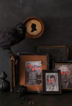 Howtomake: Spooky Portraits! This is awesome for all the pictures in our house haha.
