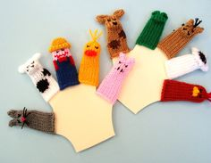 Deluxe Old McDonald Finger Puppet Set Includes Old by WeeKnit, $23.00  great for babysitting!