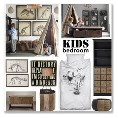 """""""Kid's Bedroom"""" by ambervogue ❤ liked on Polyvore featuring interior, interiors, interior design, home, home decor, interior decorating, Dot & Bo, Restoration Hardware, BEA and CB2"""