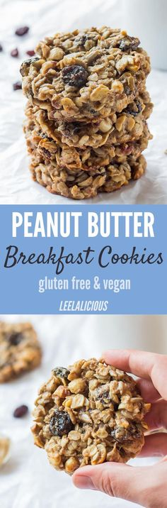 These healthy Peanut Butter Banana Breakfast Cookies are a nutritious and delicious breakfast treat, snack and could even be a healthy dessert.