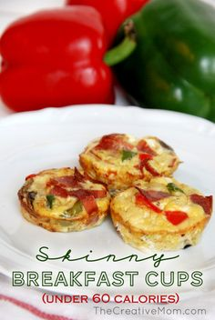 Skinny Breakfast Cups {healthy breakfast recipe} - Corduroy Dreams