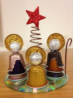 This will be fun to do. Every year add a new reason. Christmas Crafts For Kids, Xmas Crafts, Christmas Projects, Kids Christmas, Christmas Nativity Scene, Nativity Crafts, Cup Crafts, Diy And Crafts, Deco Table Noel