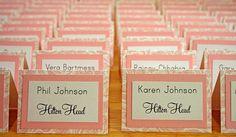 DIY escort cards #wedding #escort_cards