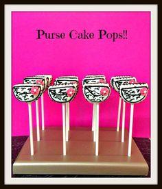 12 Zebra Print Purse Cake Pops Party Dessert Table Sweets Favors   AutumnLynnsSins - Edibles on ArtFire $28 #zebraprint #cakepops #zebrapurse