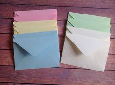 10 Mini envelopes, Mini envelope set, Mini stationery, Pastel coloured envelopes, mini stationary, by PinkyPromiseBargains on Etsy