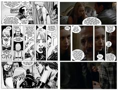 The Walking Dead Temporada 7 Episodio 7 - Cómic vs Serie:  La mayor parte de este episodio es una copia exacta del cómic (lo cual es muy emocionante para los seguidores del cómic)  1.- Uno de los momentos más resaltantes en The Walking Dead finalmente fue traído a la vida en la serie, este es el momento en el que Carl se infiltra en el Santuario de Negan asesinando a 2 de sus hombres (6 en el cómic). 2.- En el cómic Jesús estaba en la carretera cerca del Santuario, pero no se infiltró, Carl…