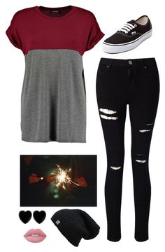 """Untitled #3609"" by if-i-were-famous1 ❤ liked on Polyvore featuring Miss Selfridge, Vans, Dollydagger and Lime Crime"