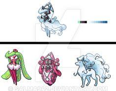 A fusion of Tsareena, Tapu Lele and Alola Ninetales, took me a while! Tapu Hau Ice-Fairy type (I don't own the original sprites) (Do not use it without . Pokemon Fusion Art, Pokemon Fan Art, Pokemon Stuff, Cute Pokemon, Pokemon Images, Pokemon Pictures, Pokemon Team Leaders, Types Of Fairies, Fox Art