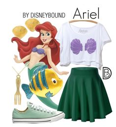 """Ariel"" by leslieakay ❤ liked on Polyvore featuring disney, mermaid, disneybound and disneycharacter"