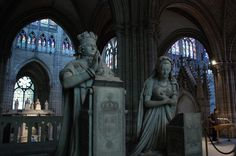 The Basilica of Saint Denis, tombs of the Bourbons, Louis and Marie Antoinette