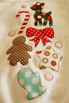 Gorgeous Christmassy Appliques from nanaCompany
