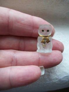 1920s Vintage Czech Glass Xmas Cracker Miniature Animal Charm