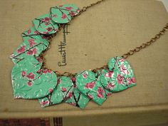 LOVE this! Jewelry made from recycled cans!