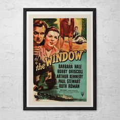 CLASSIC MOVIE POSTER -  The Window Movie Poster - Retro Movie Poster Classic Film Poster - High Quality Reproduction