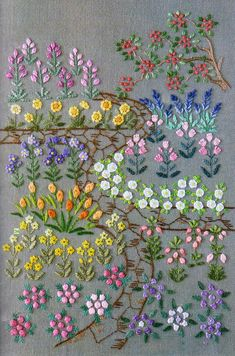 PDF Pattern of One day in my garden hand embroidery pattern sewing quilt applique patchwork art gift handmade ebook on Etsy, Flower Embroidery Designs, Hand Embroidery Stitches, Silk Ribbon Embroidery, Embroidery Patches, Crewel Embroidery, Cross Stitch Embroidery, Embroidery Patterns, Garden Embroidery, Simple Embroidery