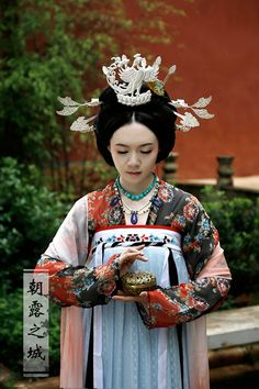 Traditional clothing in Tang Dynasty-style. Ancient Chinese fashion/ Nara Period of Japan