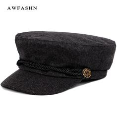 1142376f 2018 New Fashion Solid Color Military Cap Striped Newsboy Hat Man Woman  Autumn Winter Flat Top Hat Vintage Cotton Sailor Bone [orc32908940925] -  $29.45 : ...