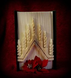 Ähnliche Artikel wie Candle Arch cut and fold book folding pattern auf Etsy Cut And Fold Books, Altered Book Art, Book Folding Patterns, Paper Folding, Life Hacks, Paper Crafts, Candles, Sculpture, Crafty