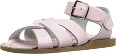 Saltwater by Hoy Girls Toddler The Original Sandal, Shiny Pink, 4 M US Toddler - http://all-shoes-online.com/salt-water-sandals/saltwater-by-hoy-girls-toddler-the-original-shiny