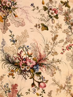 Design for chintz, from an Album of Chintz Designs, by William Kilburn. England, 18th century