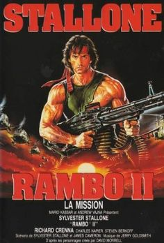 Rambo II (1985) French poster