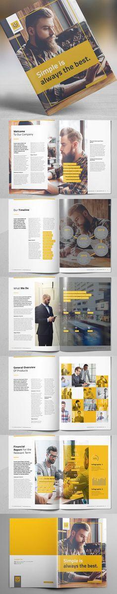Business Brochure Template #booklet #brochuredesign #brochuretemplates #businessbrochure #photobook #proposal #catalog