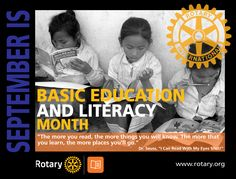 Basic Education & Literacy Month - by CMC Education And Literacy, Rotary Club, My Eyes, Learning, Studying, Teaching, Onderwijs