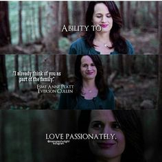 Esme share a lovely relation with Bella