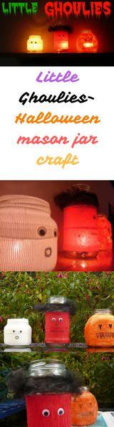 Little Ghoulies- Halloween mason jar craft