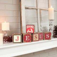 DIY Redeemed Christmas Wooden Block Set // Other words available