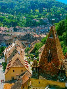 Sighisoara in Transylvania Romania birth place of Vlad Dracula. Places Around The World, Travel Around The World, Around The Worlds, Beautiful Places To Visit, Beautiful World, Amazing Places, Places To Travel, Places To See, Travel Destinations