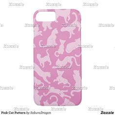 Pink Cat Pattern iPhone 7 Case #pets #animals #pink #cats #meow