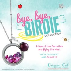 ALL items shown are retiring!  Get yours before August 10 or while supplies last. So visit ashley @ www.asaylor.origamiowl.com Thanks!