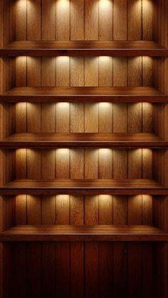 ライトアップされたダークウッド調のiPhone5壁紙