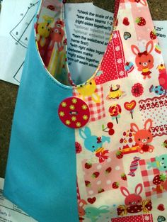 Child Sized Purse  made with Japanese pattern and fabrics