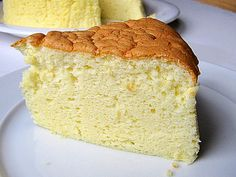 """Japanese Cheesecake recipe. """"Eating a slice of Japanese cheesecake is like eating a piece of cloud."""""""