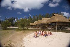 Water chalets at Pomene lodge, Massinga, Inhambane province Mozambique Bay Lodge, Maputo, Romantic Getaways, Travel List, Places Ive Been, Remote, Africa, Scene, Water