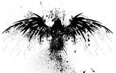 splattered+ink+bird | Original Resolution: 1920x1200