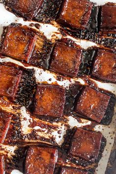 This 6 ingredient Best Ever Baked Tofu is jam packed with savory & sweet flavor! Learn how to make even tofu haters into lovers with this recipe.