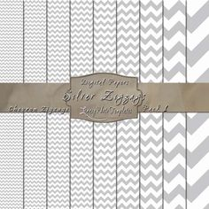 Bold Chevrons in Silver & White. Click the image to purchase the displayed paper pack OR click the following link to see the other available colors - http://www.legacyphototemplates.com/products-page/chevron-pack-1/  $3.95 #papers, #paper pack, #digital, #backgrounds, #patterned, #patterns, #downloadable, #printable, #instant, #12 x 12 paper, #gray, #white, #chevrons