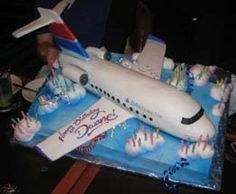 Airplane Cake this is what it was supposed to look like!