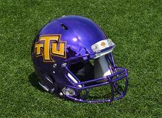Tennessee Tech University College Football Helmets, Tech Football, Football Players, Collage Football, New Helmet, Headgear, Tennessee, Sports, Metallic Paint