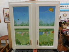 Laundry room cabinet - sunshine every day!