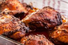 "A new recipe/tip ""Marmite Glazed Chicken Thighs"" has been posted on our website. Visit our website for more recipes and useful cooking ideas :) Chicken Menu, Glazed Chicken, Chicken Thigh Recipes, Marmite Recipes, Vegemite Recipes, Grilling Recipes, Cooking Recipes, Cooking Ideas, Chichen Recipe"